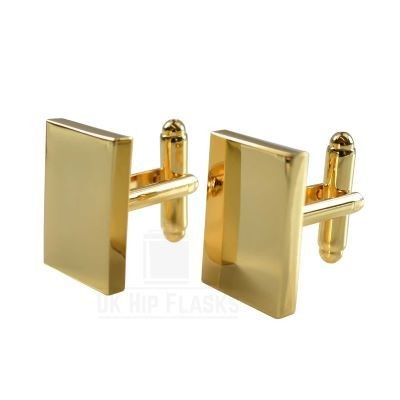 Picture of RECTANGULAR CUFF LINKS in Gold