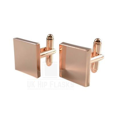 Picture of SQUARE CUFF LINKS in Rose Gold