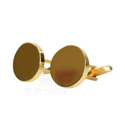 Picture of ROUND CUFF LINKS in Gold