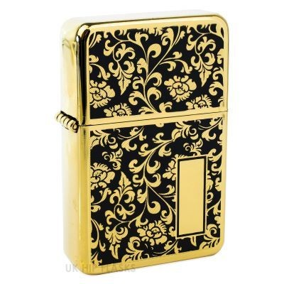 Picture of PATTERNED LIGHTER with Gold & Black Flourish Design