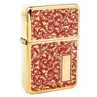 Picture of PATTERNED LIGHTER with Gold & Red Flourish Design