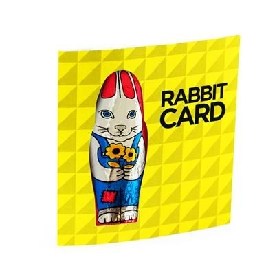 Picture of CHOCOLATE RABBIT CARD