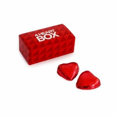 Picture of 4 CHOCOLATE HEART BOX