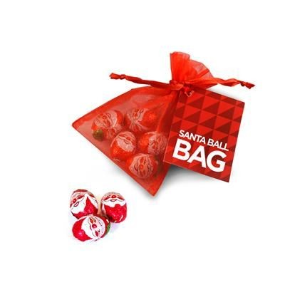 Picture of FATHER CHRISTMAS SANTA ORGANZA BAG