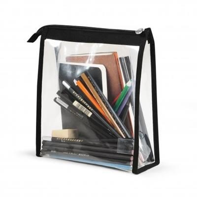 Picture of MAXCLEAR TRAVEL OR COSMETICS POUCH with Black Piping