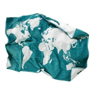 Picture of BIOPLANET MAPPEMONDI PATTERN BATH TOWEL