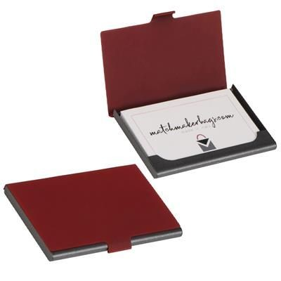 Picture of BUSINESS CARD HOLDER CAMBRIDGE in Red