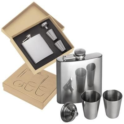 Picture of SANDVIKEN HIP FLASK with 2 Shot Glasses