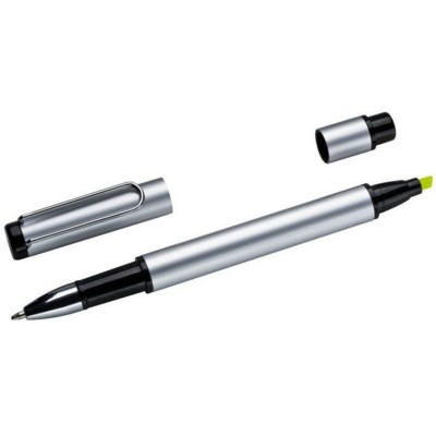 Picture of GETAFE ALUMINIUM METAL SILVER METAL DUO BALL PEN in Silver