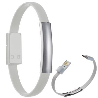 Picture of LE PORT SILICON BRACELET with Data Cable in White