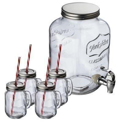 Picture of ACAPULCO SET DRINK DISPENSER & 4 DRINK GLASSES