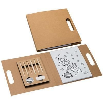Picture of FORIO CHILDRENS COLOURING BOOK with Colouring Pencil Set