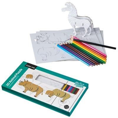 Picture of ADDISON 3D PUZZLE FOR COLOURING