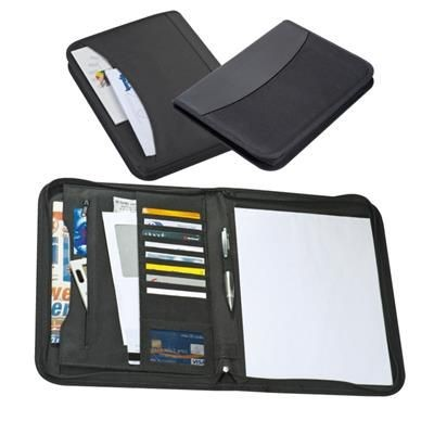 Picture of PANAMA A4 ZIP CONFERENCE FOLDER in Black