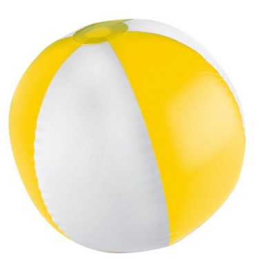 Picture of KEY WEST BICOLOUR BEACH BALL in Yellow & White