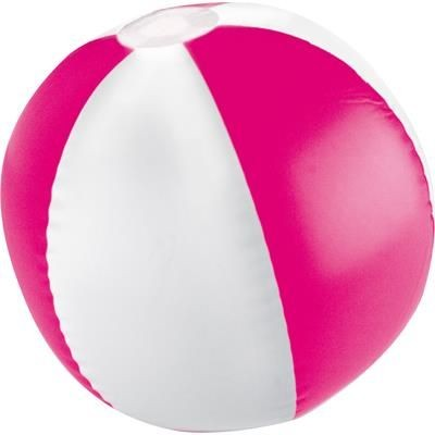 Picture of KEY WEST BICOLOUR BEACH BALL in White & Pink