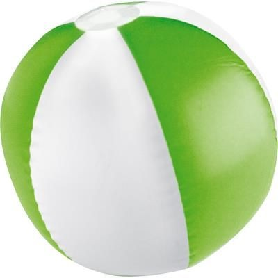 Picture of KEY WEST BICOLOUR BEACH BALL in White & Apple Green