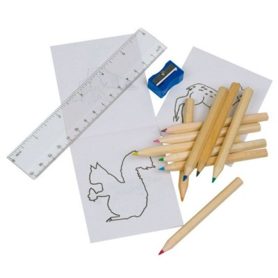 Picture of LITTLE PICASSO CHILDRENS DRAWING SET in Wood