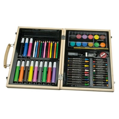 Picture of MAXI BIG COLOURING SET in Wood Box