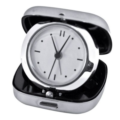 Picture of LAUSANNE METAL TRAVEL CLOCK in Silver