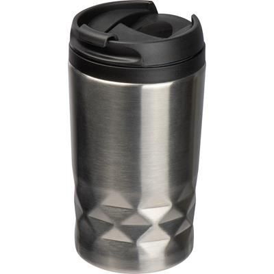 Picture of STAINLESS STEEL METAL METAL MUG with Lid Roma