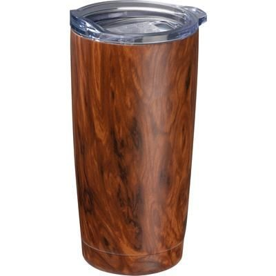 Picture of STAINLESS STEEL METAL METAL MUG with Wood Effect Costa Rica