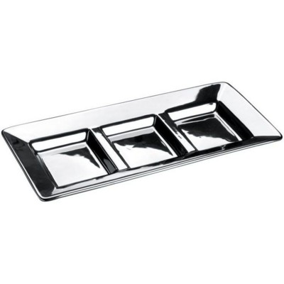 Picture of PARMA 3 PIECE SQUARE SILVER SILVER CHROME BOWL in Silver