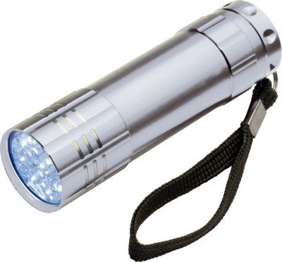 Picture of MONTARGIS 9 LED METAL TORCH in Silver