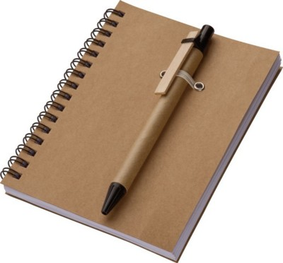 KEYSTONE A6 ECO NOTE PAD in Brown