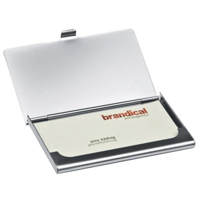 Picture of CORNWALL METAL BUSINESS CARD HOLDER in Silver