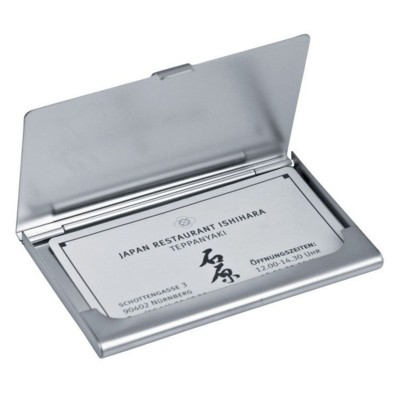 Picture of WALES METAL BUSINESS CARD HOLDER in Silver