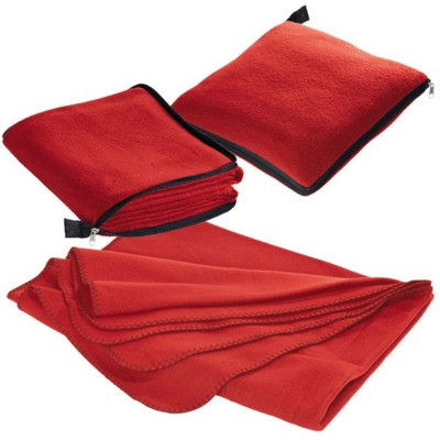Picture of RADCLIFF 2-IN-1 FLEECE BLANKET-PILLOW in Red