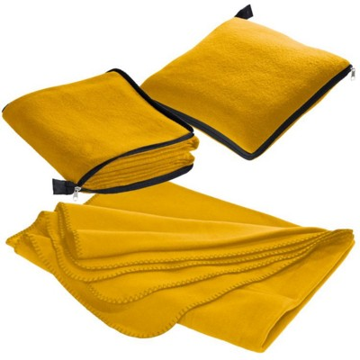 Picture of RADCLIFF 2-IN-1 FLEECE BLANKET-PILLOW in Yellow