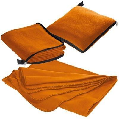 Picture of RADCLIFF 2-IN-1 FLEECE BLANKET-PILLOW in Orange