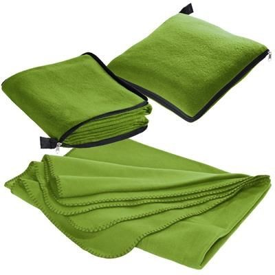Picture of RADCLIFF 2-IN-1 FLEECE BLANKET-PILLOW in Lime Green