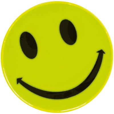 Picture of STANLEY SMILEY SAFETY REFLECTOR STICKER in Yellow