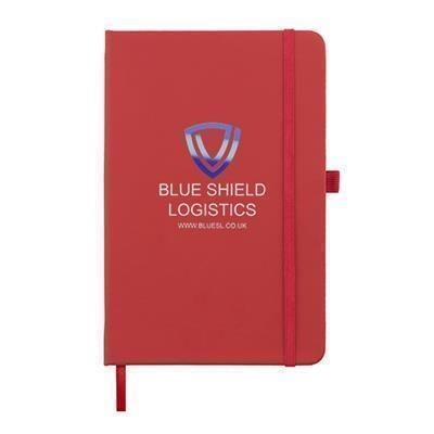 Picture of FULL COLOUR PRINTED KIEL A5 PU NOTE BOOK in Red