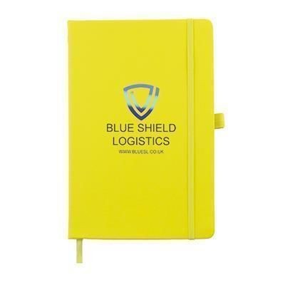 Picture of FULL COLOUR PRINTED KIEL A5 PU NOTE BOOK in Yellow