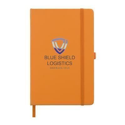 Picture of FULL COLOUR PRINTED KIEL A5 PU NOTE BOOK in Orange