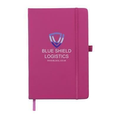 Picture of FULL COLOUR PRINTED KIEL A5 PU NOTE BOOK in Pink