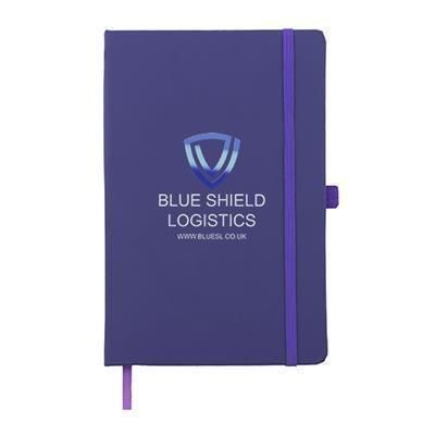 Picture of FULL COLOUR PRINTED KIEL A5 PU NOTE BOOK in Purple