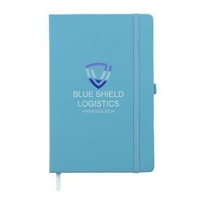 Picture of FULL COLOUR PRINTED KIEL A5 PU NOTE BOOK in Teal