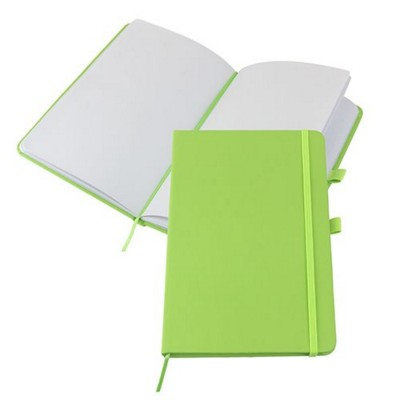Picture of KIEL A5 PU NOTE BOOK in Lime Green