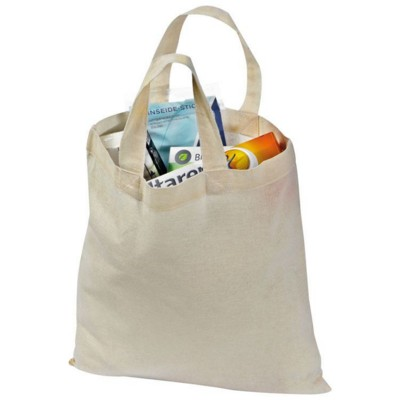 ANTIBES COTTON SHOPPER TOTE BAG in White
