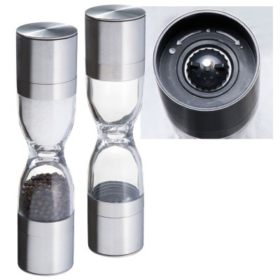Picture of ROME SALT AND PEPPER MILL in Silver