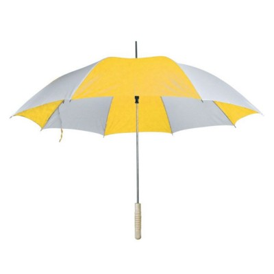 Picture of AIX-EN-PROVENCE AUTOMATIC WALKING STICK UMBRELLA in Yellow & White