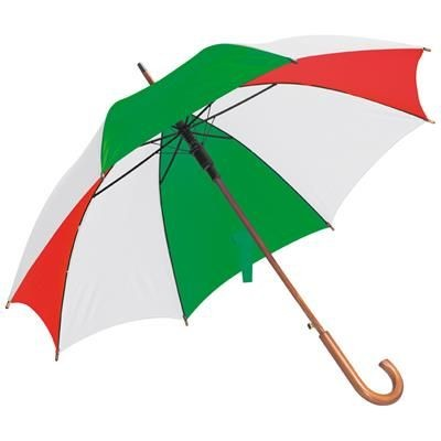 Picture of NANCY WOOD AUTOMATIC UMBRELLA in Green & Red
