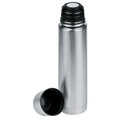 Picture of VIRGINIA BEACH SILVER STAINLESS STEEL METAL ISOLATING VACUUM FLASK in Silver