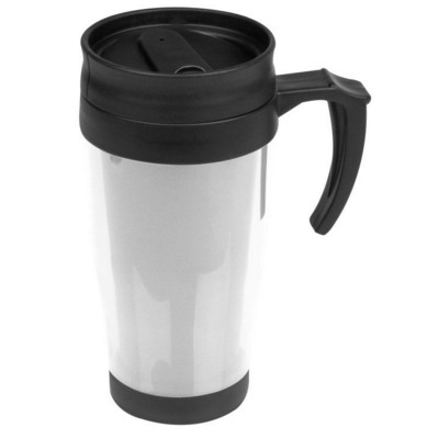 Picture of FORT WORTH PLASTIC THERMAL INSULATED THERMAL INSULATED TRAVEL MUG in White
