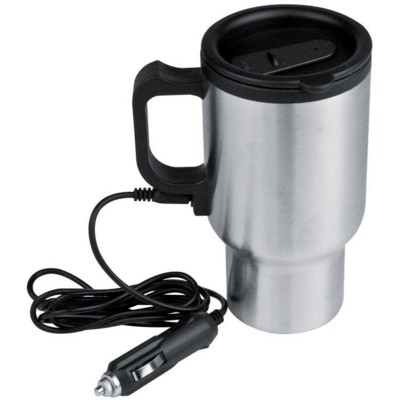 Picture of PORTLAND HEATED SILVER STAINLESS STEEL METAL THERMAL INSULATED CUP in Silver